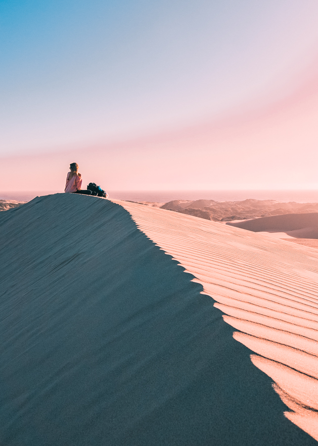 Atop Cerro Blanco, the tallest sand dune in the world and one of the coolest things to do in Nazca after flying over the Nazca lines