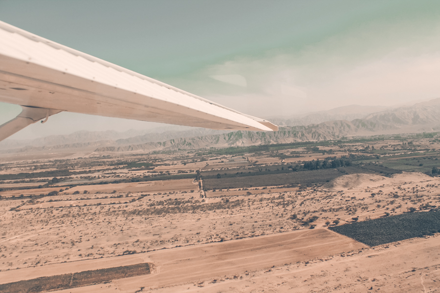 Flying over the Nazca desert before getting the chance to see the Nazca Lines from a birds-eye view