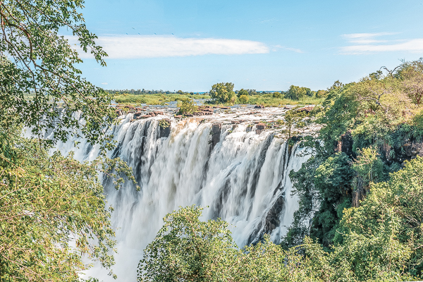 Victoria Falls as seen from the Zambian side. Check out my guide on how to visit Victoria Falls on a budget