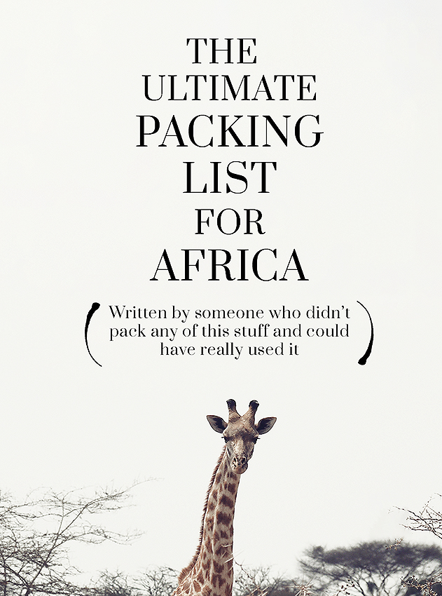 What to pack for a trip to Africa? This list covers the most important stuff to pack for a trip to Africa, especially south Africa (Malawi, Zambia and Zimbabwe) and East Africa (Kenya, Tanzania, Rwanda, and Uganda)