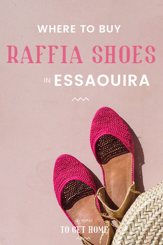 Wondering where to buy raffia shoes in Essaouira? This travel + shopping guide to Essaouira covers my favorite shops to buy crafts in Essaouira as well as useful travel tips to the best destination in Morocco. #RaffiaShoes #Essaouira #MoroccoTravel