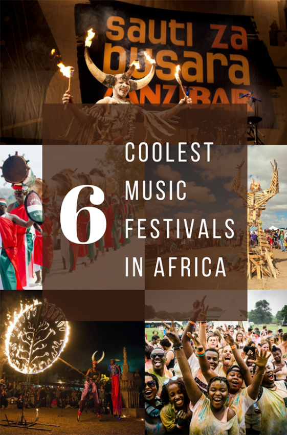The coolest music festivals in East and southern Africa.