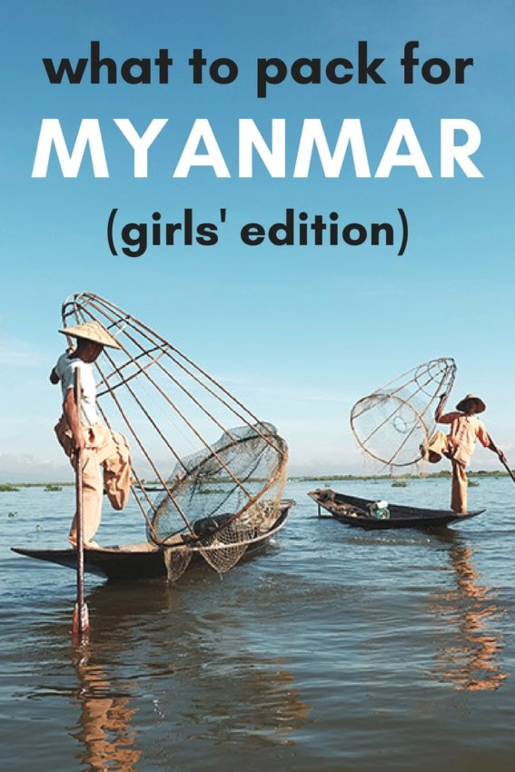 What to pack for a trip to Myanmar. Female packing guide to Myanmar