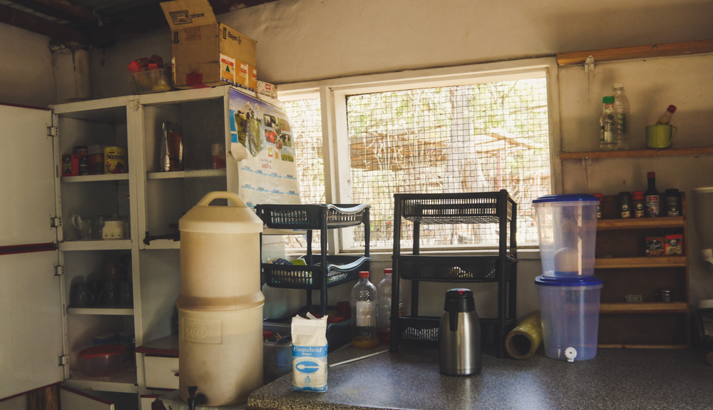 Self-catering kitchen at Chimfunshi