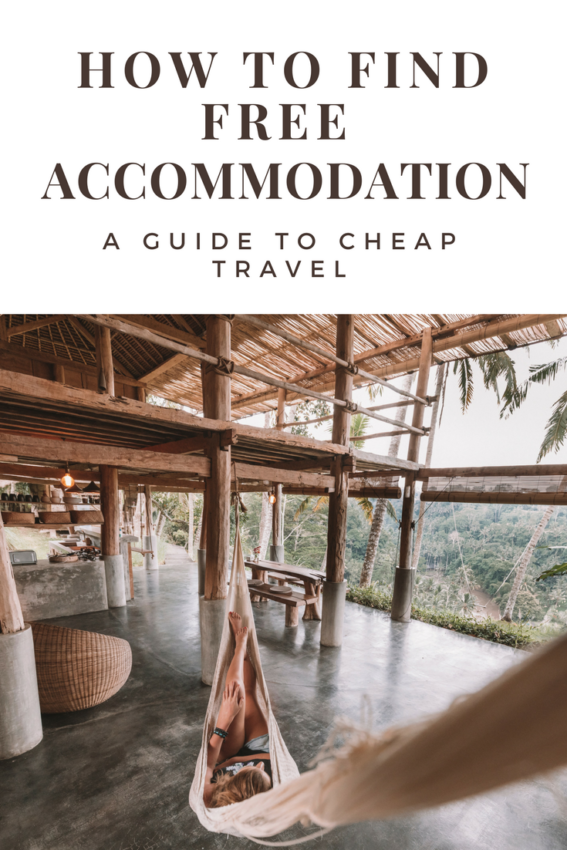 Free Accommodation Gudie: How to find cheap accommodation when traveling - Including getting free hotels and exchanging work for a place to sleep when traveling. I love these tips because they have allowed me to travel the world without being rich as well as adding more meaning to my travel #traveltips #budgettravel #freetravel #traveltheworld