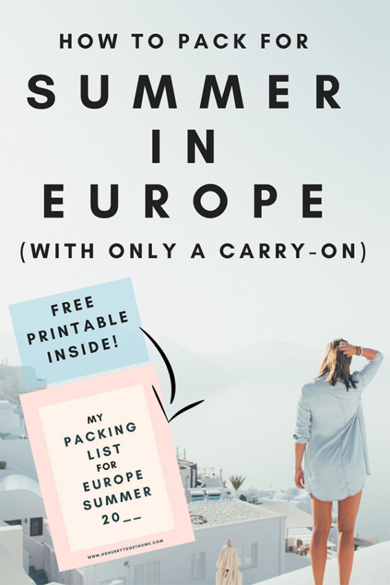 The only packing guide for a summer in Europe that you'll ever need! With this list of packing essentials and travel tips for your Eurotrip, you'll learn how to fit everything you need to pack for Europe in just a carry on so you can enjoy the ups for traveling with hand luggage only! #Europetravel