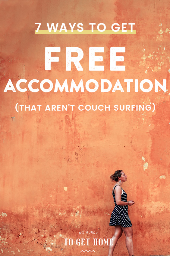 Wondering how to travel for cheap? A huge cost when traveling is accommodation, so I've pulled together my seven favorite hacks to score free housing when traveling! #TravelHacks