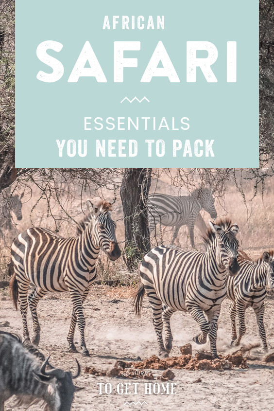 Wondering what to pack for a safari in Africa? Here are all the essentials you need, including useful gear and tips on what to wear in a safari! #AfricaTravel