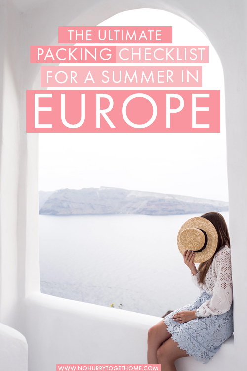 Visiting Europe this summer and wondering what to pack? I've got the perfect packing checklist for you! In this Europe packing list, I include everything you need to bring for the perfect vacation in Europe during the summer months. #Europe