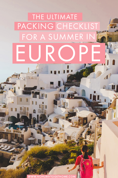 Wondering what to pack for a summer in Europe? Whether you're visiting Greece, Paris, Spain or any other country in Europe, this Europe packing list has you covered! From essentials to useful things, you'll find everything you need to pack for a summer in Europe here. #Europe