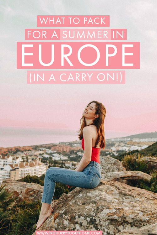 The perfect packing list for a summer in Europe (and how to fit it all in carry-on!) + what to leave behind, and all my carry-on packing hacks!