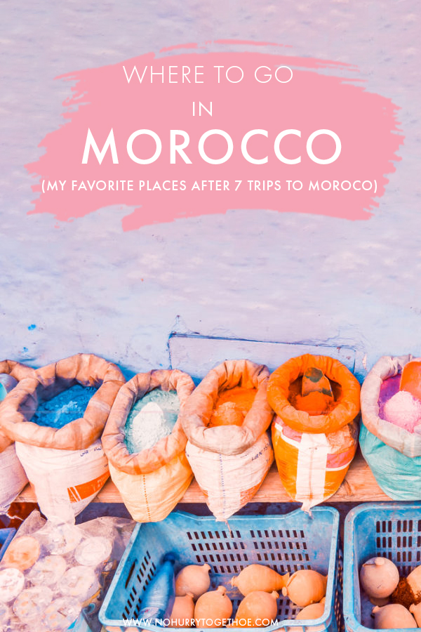 Planning your Morocco itinerary? There are so many cool destinations in Morocco that planning a route can be overwhelming, so I decided to round up the absolute best destinations in Morocco that need to be in your itinerary - from Chefchouen to Marrakech and a secret hidden gem! #Morocco #Travel #Africa #Marrakech #Chefchouen