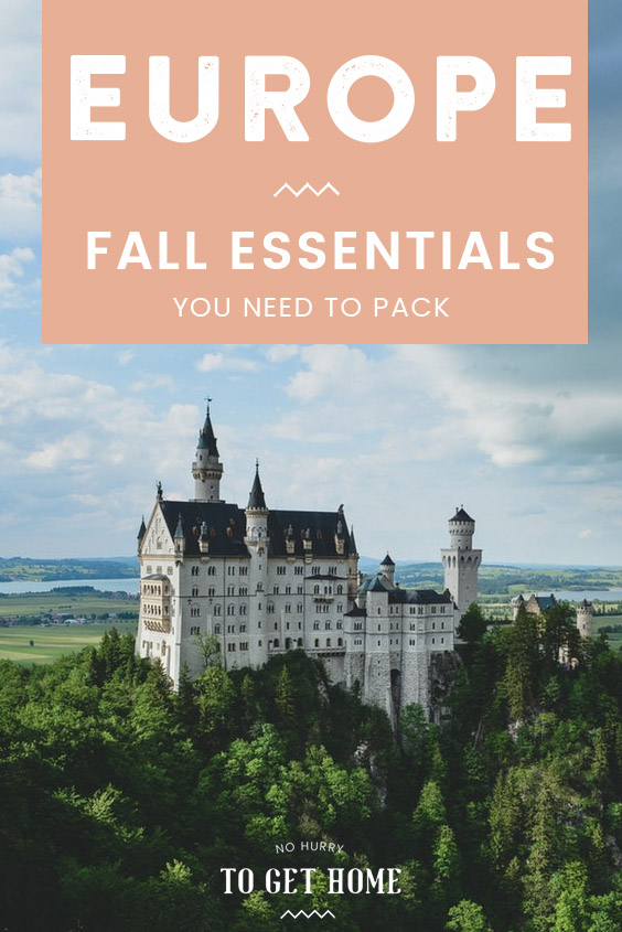 The ultimate packing list for Europe in the fall + a lovely watercolor map of Europe and a few of its top destinations