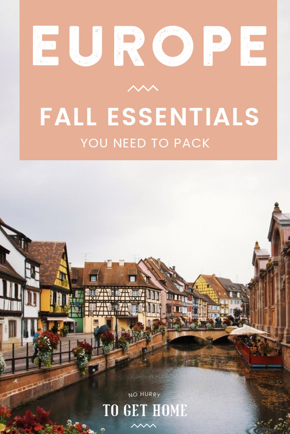 Traveling to Europe this fall and wondering what to pack? Here's the ultimate packing list for Europe in fall with all the essentials you need for the perfect European holiday! #EuropeTravel