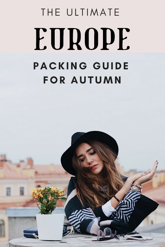 The perfect packing list for Europe in fall #Europe #Eurotrip