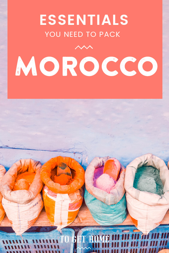 Wondering what to pack for a visit to Morocco? In this travel blog post, I share all the essential items you need to pack and things to keep in mind when planning your Morocco packing list in order to have a stress-free trip! #MoroccoTravel