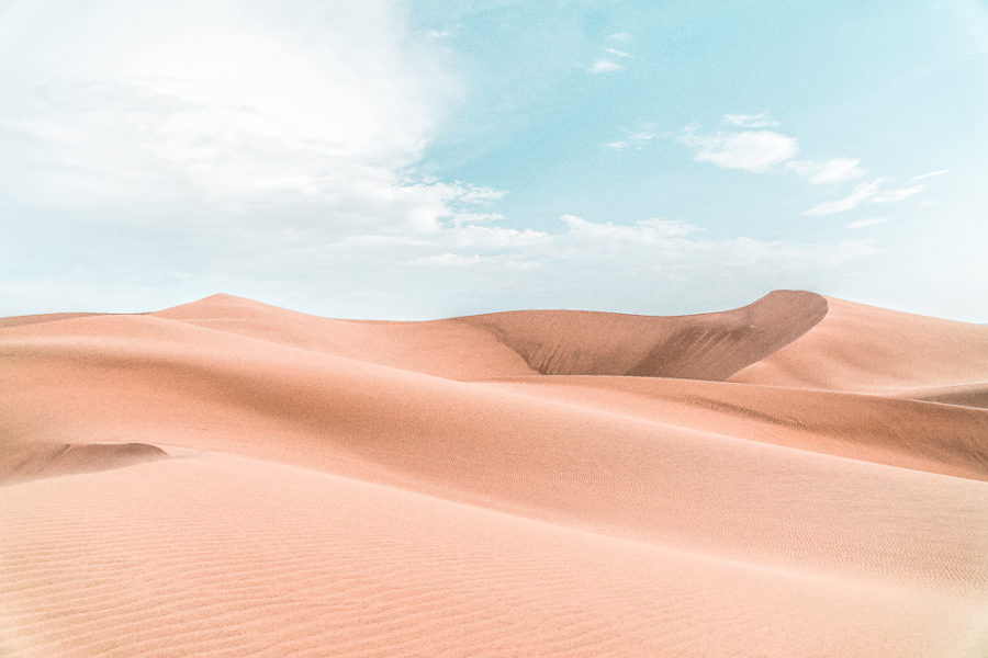 The sand dunes of Huacachina in Ica