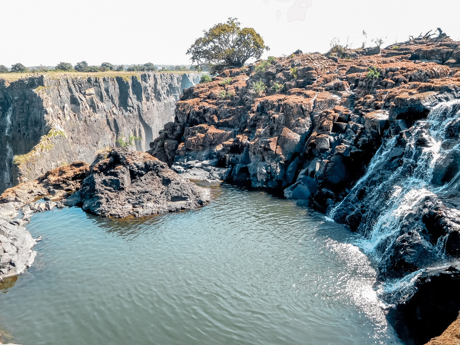 Angel's Pool is an awesome alternative on the Zambian side of the falls to visit Victoria Falls on a budget