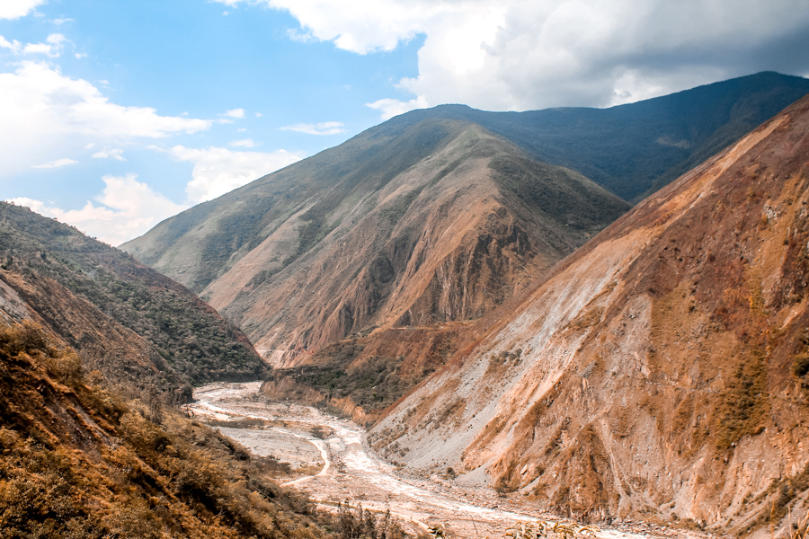 The views from the bus ride from Cusco to Hidroelectrica. Getting to Machu Picchu on a budget will take you through some stunning sights in the Andes
