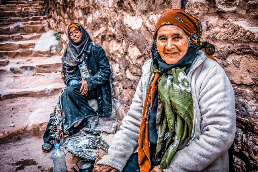 Petra in a day: Bedouin women in Petra, Jordan