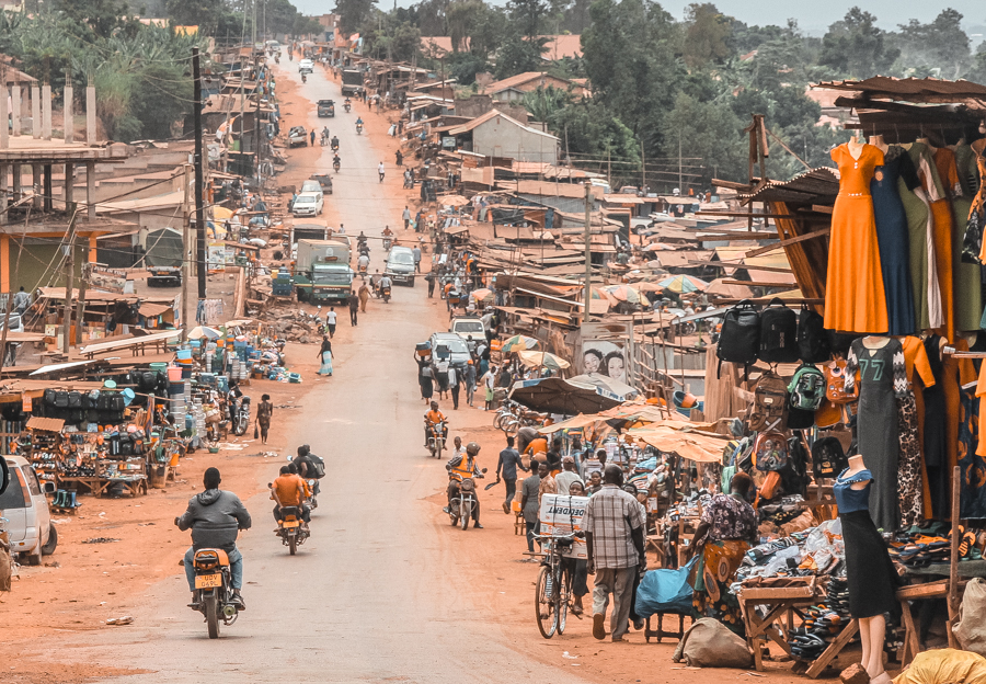 The bustling streets of Uganda