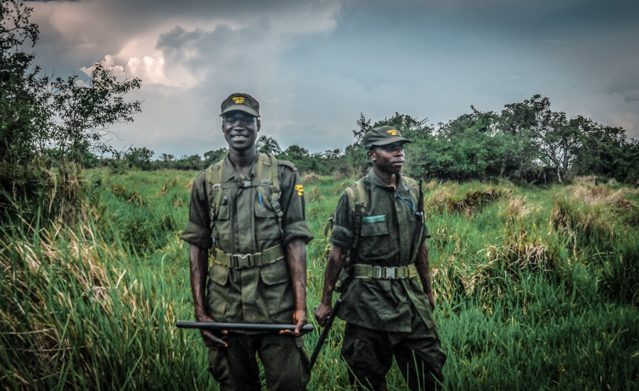 Two rangers at Ziwa Rhino sanctuary