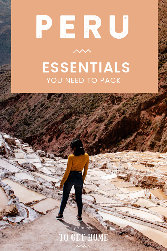 The ultimate packing guide for Peru listing the essentials you need to pack as well as travel tips on other useful things to bring and what to wear for a holiday in Peru. #PeruTravel