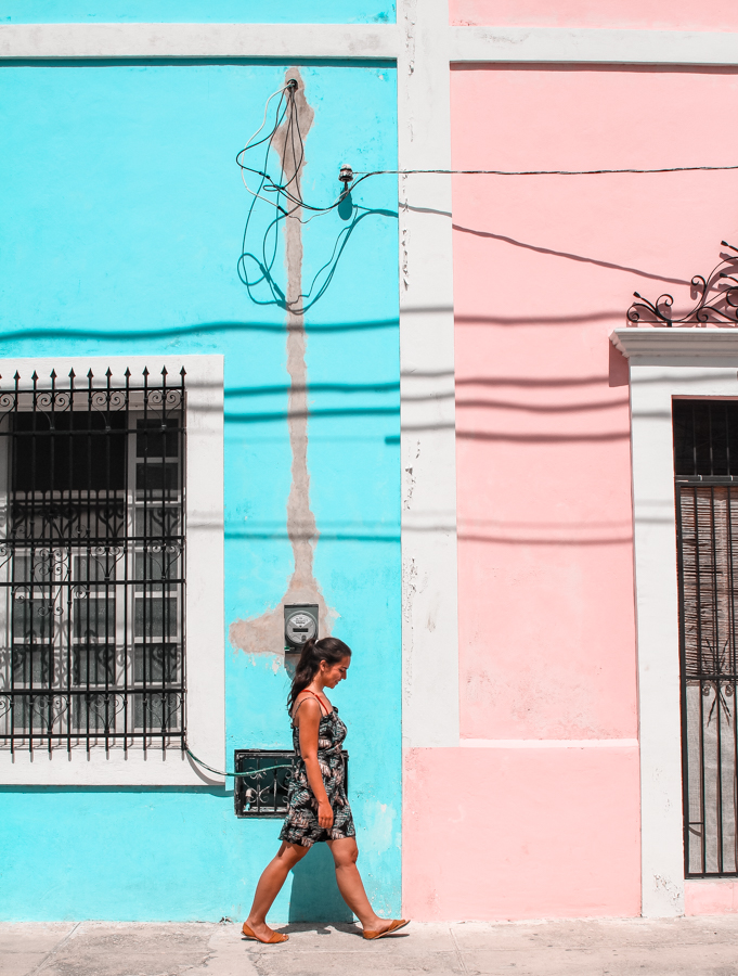 Colorful buildings are stunning cenotes are one of the things you'll find in Valladolid, Mexico