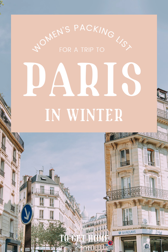 The ultimate women's packing list for a winter trip to Paris. From what to wear in Paris, to useful things to bring along and Paris style tips, you'll love the packing guide I put together! #Paris #Winter