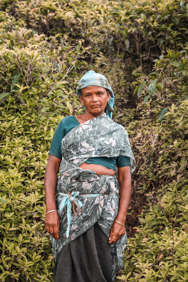 Meeting locals while strolling through Ella's tea plantations in Sri Lanka