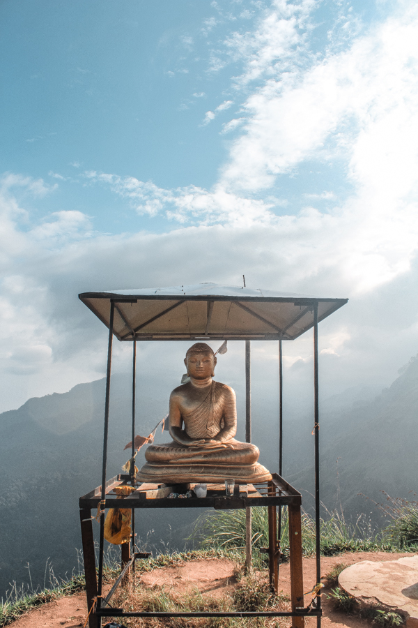 Reaching the top of Little Adam's Peak, one of the most famous attractions of Ella, Sri Lanka
