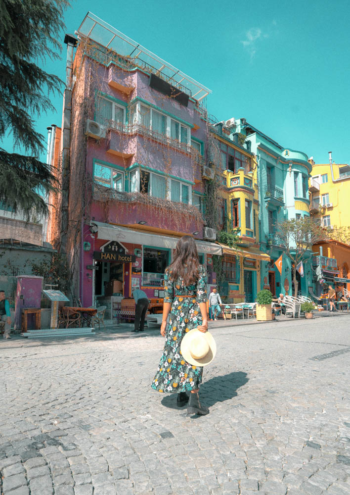 Istanbul if full of colorful buildings and incredibly photogenic spots. One of my favorite things to do in Istanbul was shooting a few pictures along this colorful street!