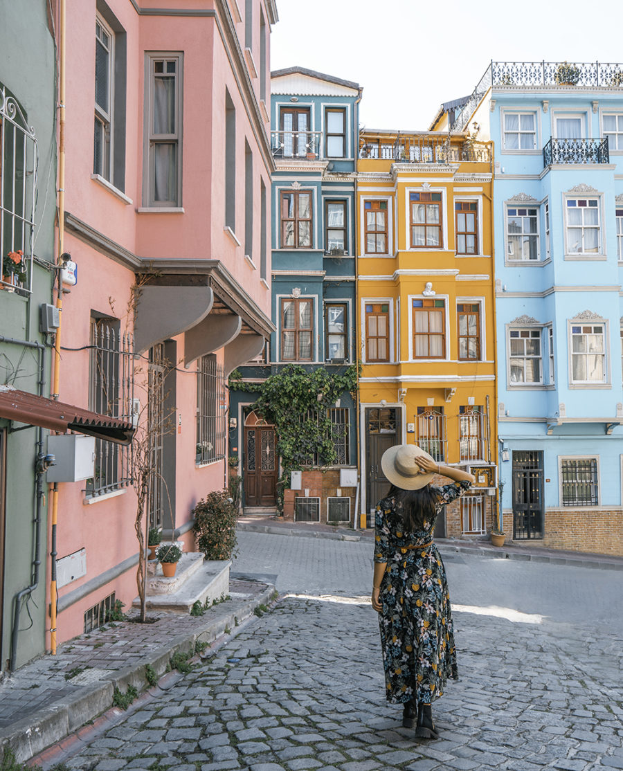 The colorful buildings of Balat are one of the most beautiful places in Istanbul