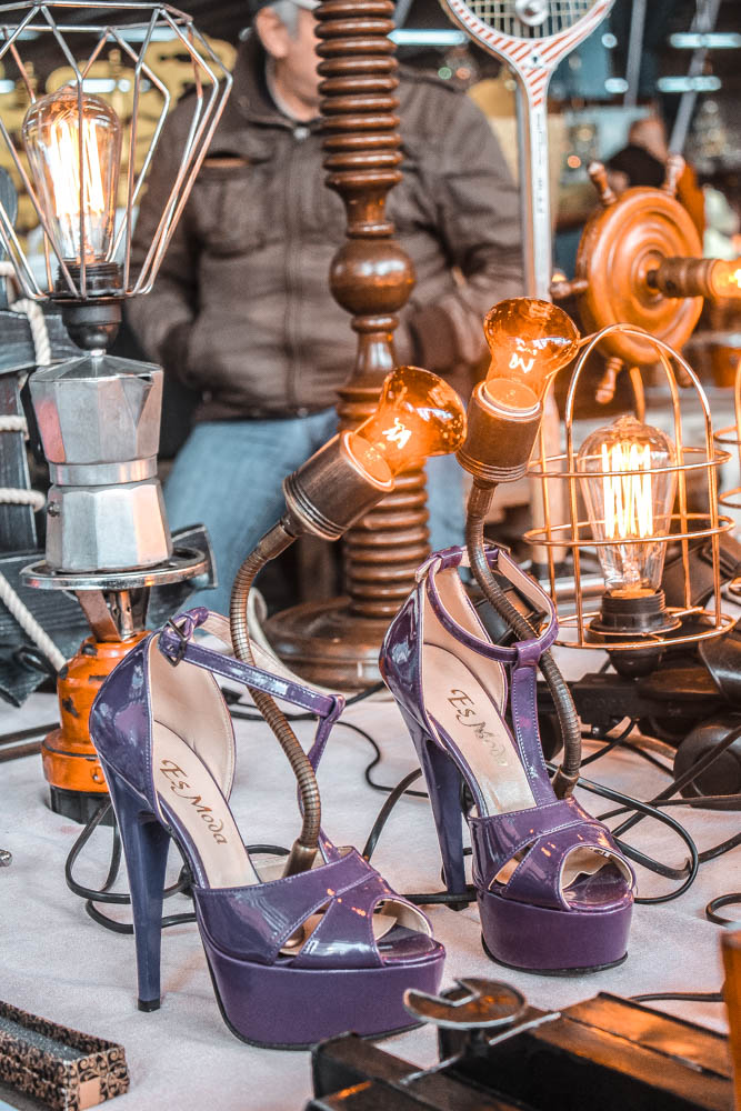 We loved exploring local flea markets and finding all sorts of quirky stuff like these high heel lamps in Istanbul!