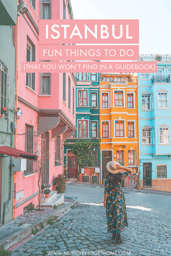 Looking for fun and unique things to do in Istanbul. Here are seven activities and attractions to visit in Istanbul that you won't find in a typical guidebook! From colorful houses to Instagrammable cafés and the less-explored Asian side of Istanbul, here are seven unique spots and things to do when you visit Istanbul. #Istanbul