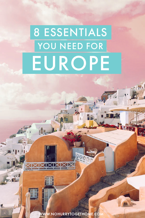 Packing for Europe and wondering if you've forgotten something? In this packing list for Europe, I share eight essentials and items that you need in your luggage for your visit to Europe.