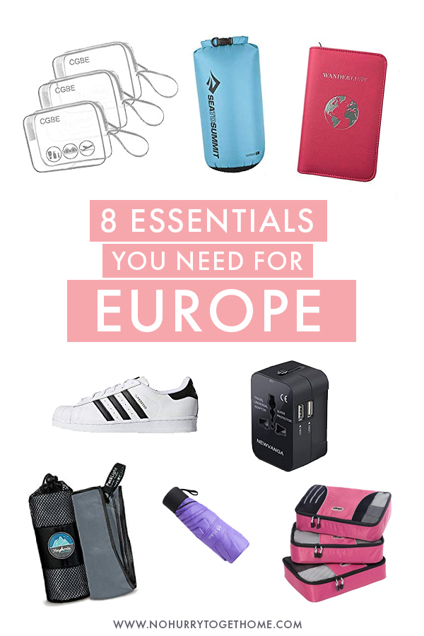 Planning on visiting Europe and looking for the perfect packing list? Whether you're visiting in summer or winter, here are eight essentials you need to pack for the perfect trip to Europe.