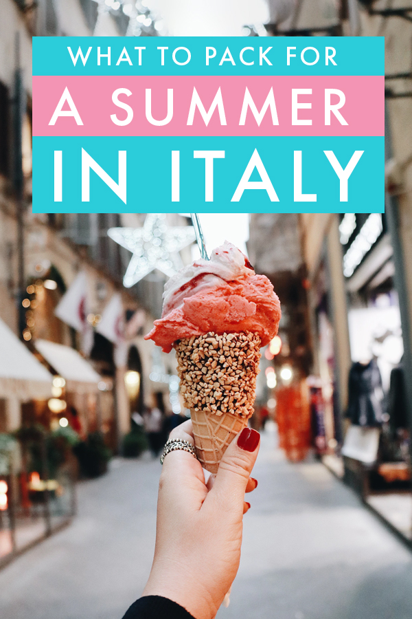 Wondering what to pack for a summer in Italy? In this packing list, I share all the essentials you need for the perfect summer trip to Italy - it'll work in Rome, Venice, Cinque Terre, or any other Italian destination!