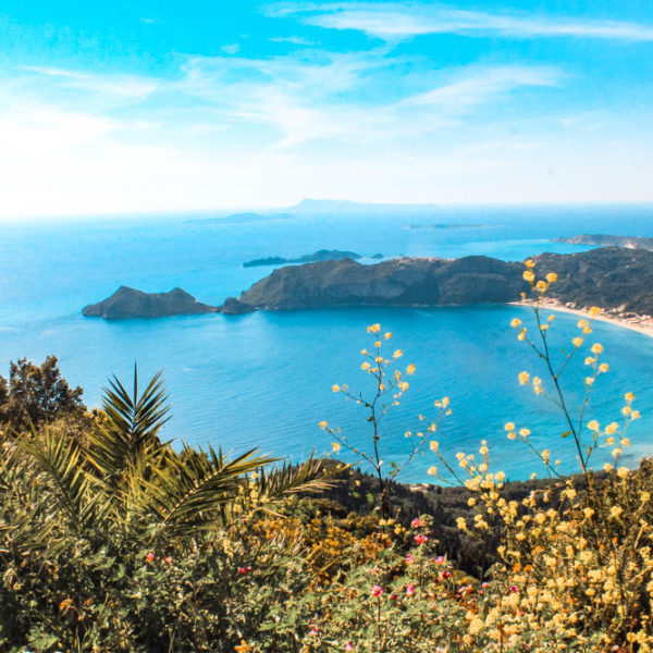 Porto Timoni is one of the most beautiful beaches in Corfu