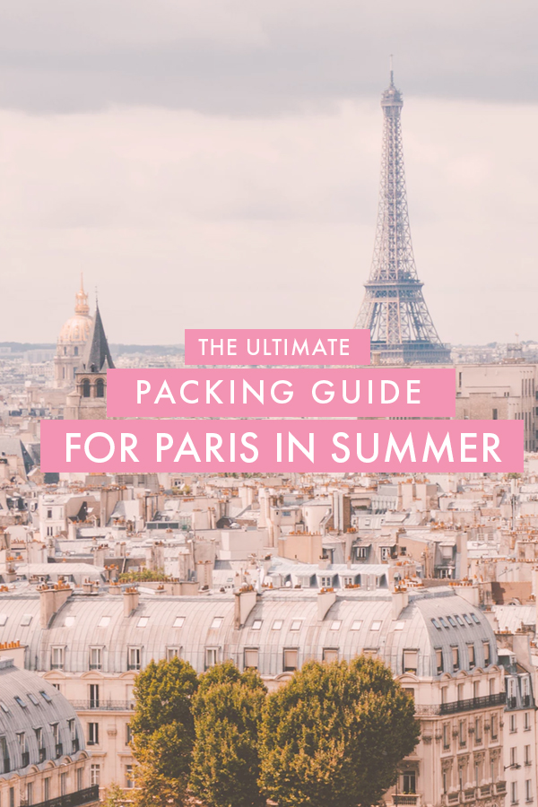 Traveling to Paris in the summer but have no idea what you need to pack for the trip? I've put together the ultimate Paris packing list for summer that fits into a carry on for those who like to travel light!