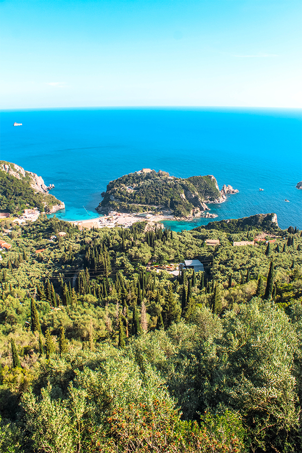 Looking for the best areas to stay in Corfu, Greece? Lakones and Lipiades villages are a great spot to base yourself in if you love hiking and gorgeous views!