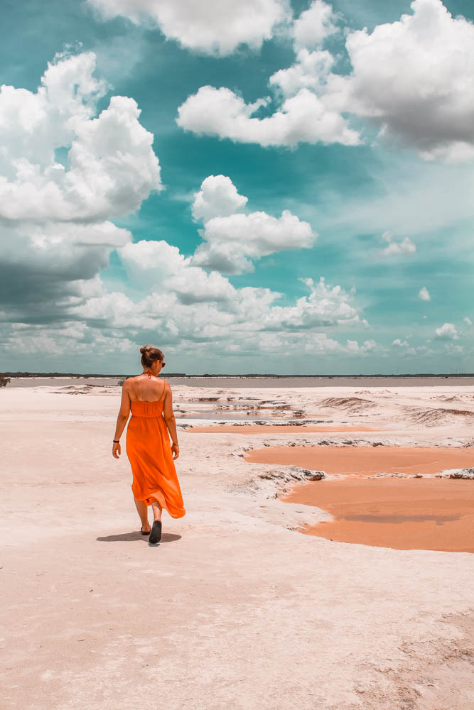 Las Coloradas aren't just pink - there are also orange lakes in the area!