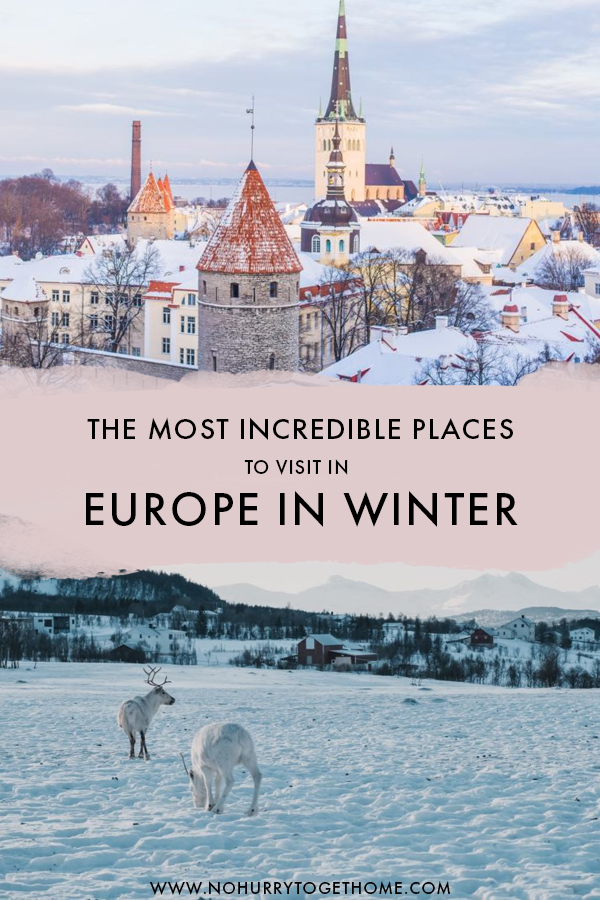 Answering the ultimate questions: What are the best places to visit in Europe in winter? Whether you're planning a Christmas holiday in Europe or visiting during January, these are the best winter destinations in Europe that need to be in your bucket list! #Winter #Europe #Christmas