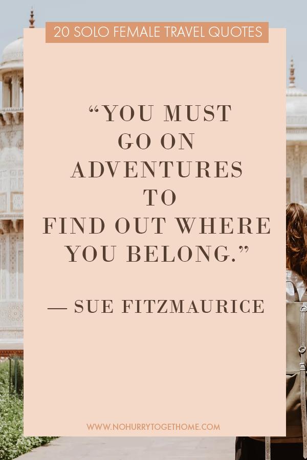 Inspiring solo female travel quotes