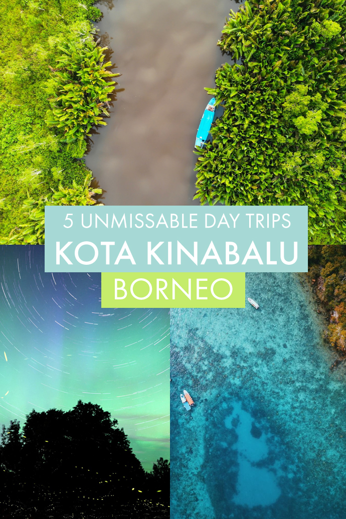 Don't skip Kota Kinabalu on your Borneo itinerary! The capital of Sabah has so much to offer, and its surroundings even more! Here are five unmissable day trips from Kota Kinabalu that need to be on your Borneo itinerary if you love wildlife, adventures, and nature. #Borneo