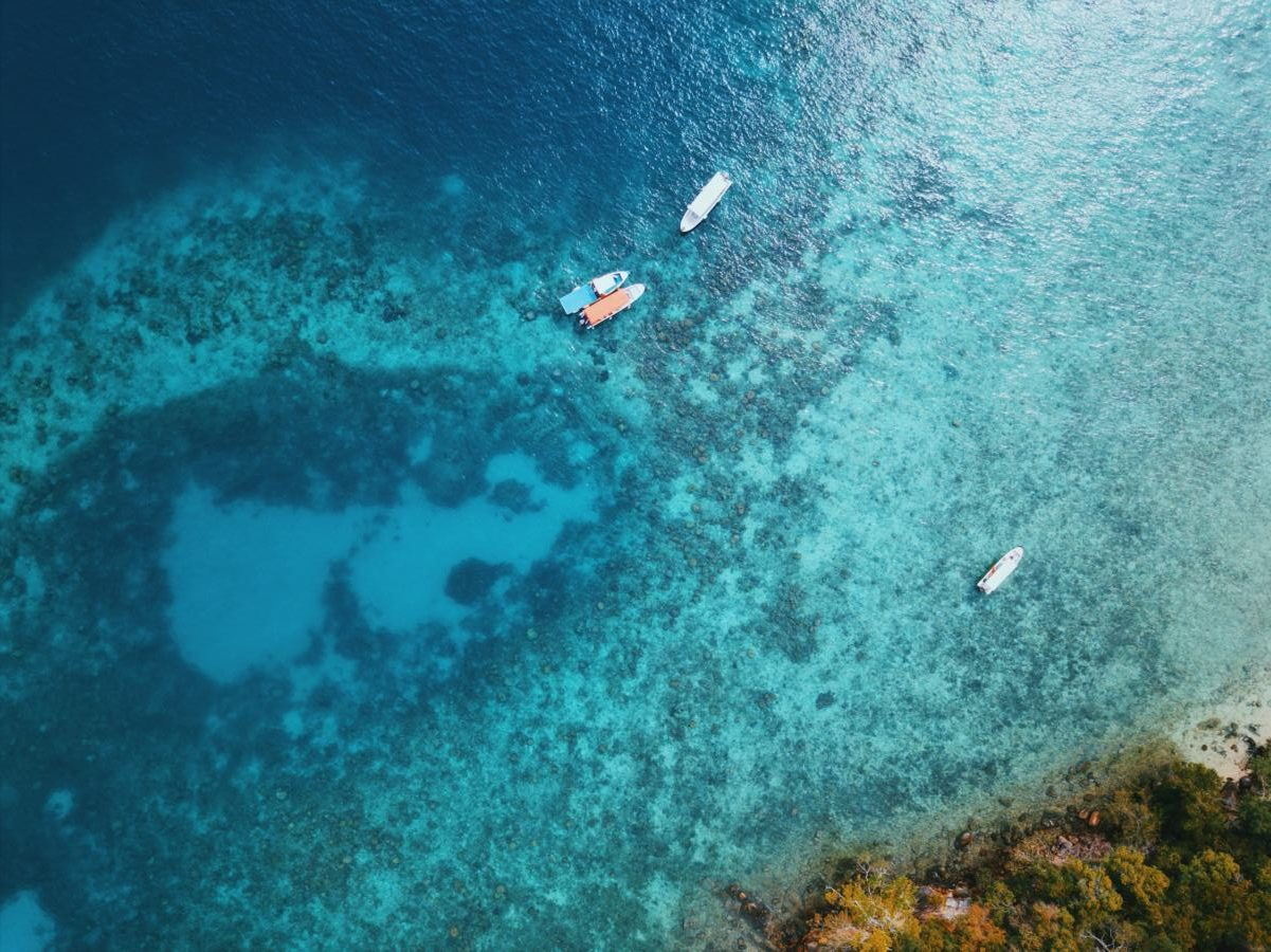 Island hopping through Tunku Abdul Rahman Marine Park is an easy day trip from Kota Kinabalu
