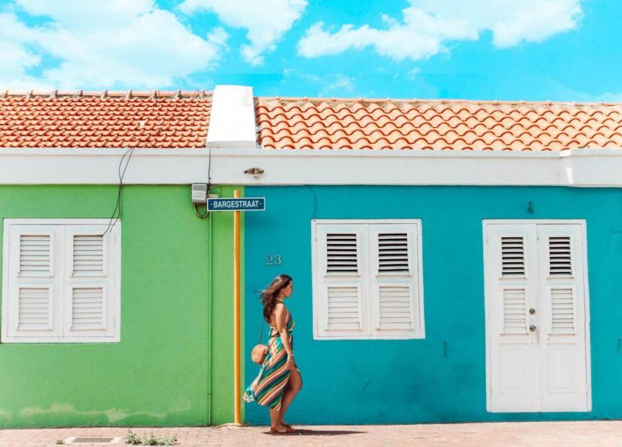 The colorful houses in Scharloo, one of the most colorful neighborhoods in Curacao