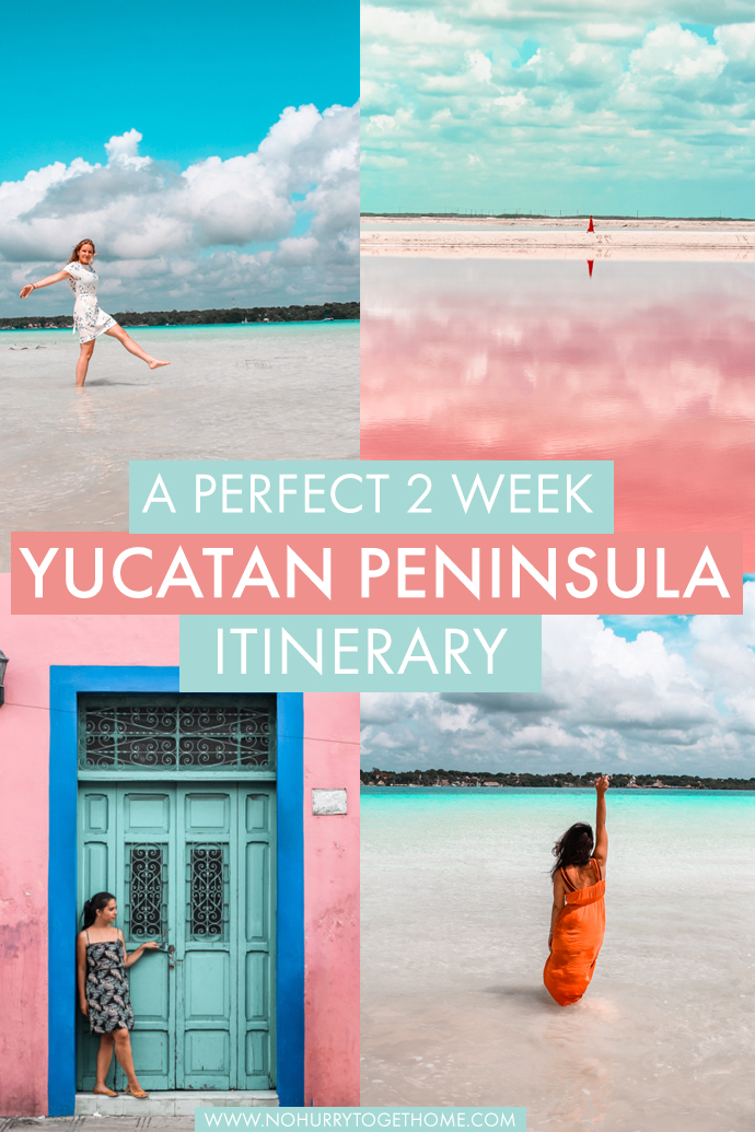 The ultimate 2 week Yucatan Peninsula itinerary, with some of the most incredible destinations to visit in Mexico if you love culture, beaches, and colors! From tips on where to stay, how to move around and the top things to do in the Mayan Rivera and Yucatan Peninsula, this travel guide is all you need to start planning your trip to one of Mexico's most thrilling destinations! #Mexico #Yucatan