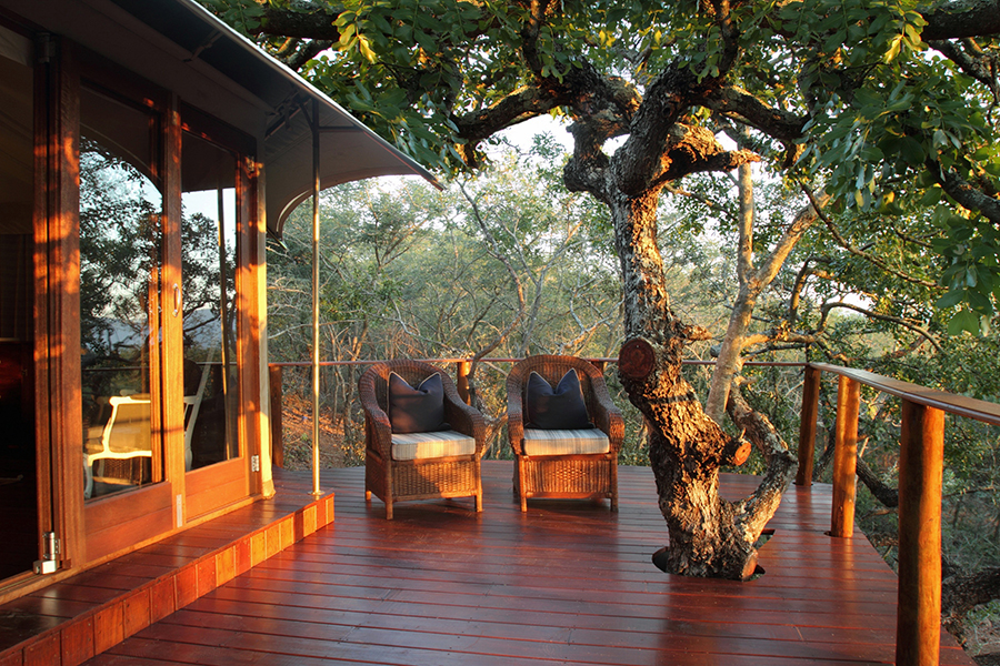 Tented Camp at Thanda Safari deck