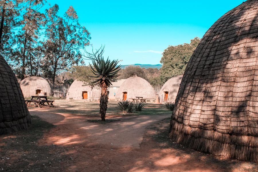 Traditional Huts at Beehive Village in Mlilwane Forest Reserve in Swaziland